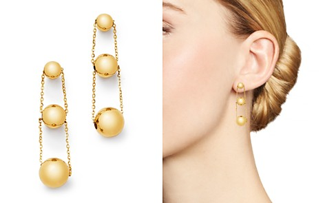 Bloomingdale's 14K Yellow Gold Graduated Bead Drop Earrings - 100% Exclusive _2