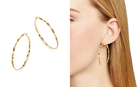 Moon & Meadow Twisted Hoop Earrings in 14K Yellow Gold - 100% Exclusive - Bloomingdale's_2