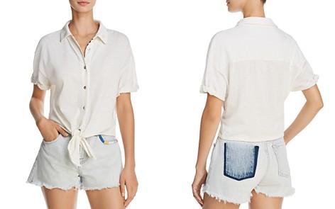 Splendid x Margherita Tie-Front Shirt - Bloomingdale's_2