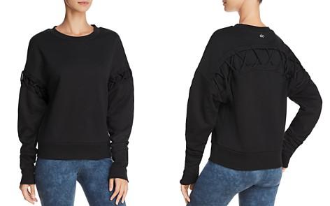 Alo Yoga Hookup Lace-Up Sweatshirt - Bloomingdale's_2