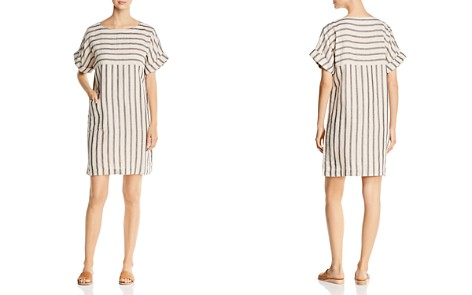 Eileen Fisher Striped Linen & Organic Cotton Shift Dress - Bloomingdale's_2