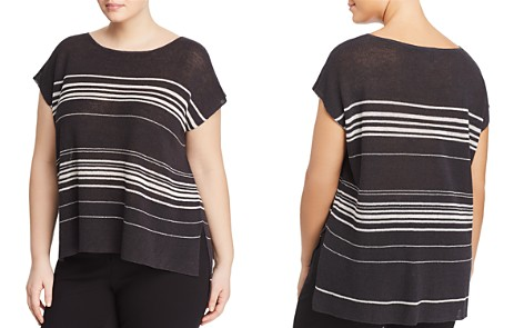 Eileen Fisher Plus Cap Sleeve Stripe Top - Bloomingdale's_2