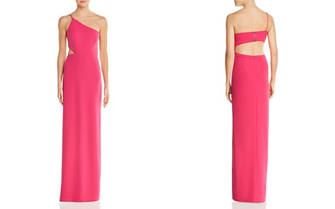 Aidan by Aidan Mattox One-Shoulder Cutout Gown - 100% Exclusive - Bloomingdale's_2