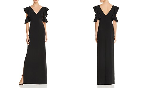 Laundry by Shelli Segal Ruffled Cold-Shoulder Gown - Bloomingdale's_2