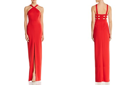 Aidan by Aidan Mattox Cutout Scuba Gown - 100% Exclusive - Bloomingdale's_2