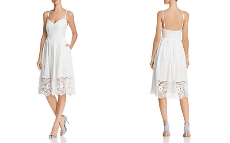 FRENCH CONNECTION Salerno Lace-Hem Dress - Bloomingdale's_2