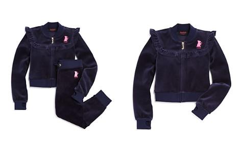 Juicy Couture Black Label Girls' Velour Ruffled Westwood Jacket & Zuma Pants - Big Kid - Bloomingdale's_2