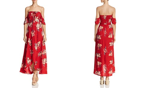 Band of Gypsies Off-the-Shoulder Floral-Print Midi Dress - 100% Exclusive - Bloomingdale's_2