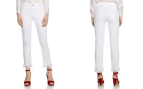 Maje Panaki Skinny Frayed-Hem Ankle Jeans in White - Bloomingdale's_2