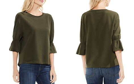 VINCE CAMUTO Elbow Sleeve Terry Top - Bloomingdale's_2