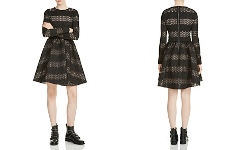 Maje Relane Lace-Inset Fit-and-Flare Dress - Bloomingdale's_2