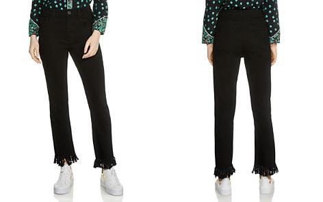 Maje Panako Skinny Frayed-Hem Ankle Jeans in Black - Bloomingdale's_2