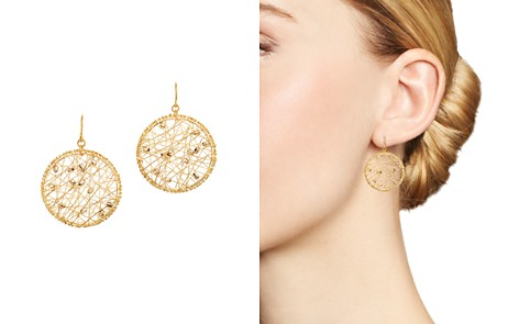 Bloomingdale's Beaded Circle Drop Earrings in 14K White & Yellow Gold - 100% Exclusive _2