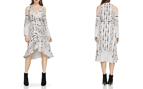BCBGMAXAZRIA Leeam Cold-Shoulder Wrap Dress - Bloomingdale's_2