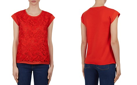 Gerard Darel Preston Lace-Front Tee - Bloomingdale's_2