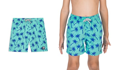 TOM & TEDDY Boys' Palm Tree Swim Trunks - Little Kid, Big Kid - Bloomingdale's_2