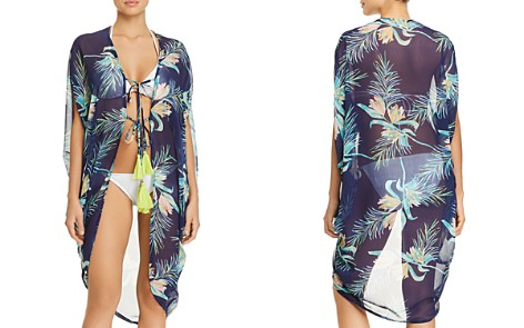 Echo Paradise Palms Open-Front Caftan Swim Cover-Up - Bloomingdale's_2