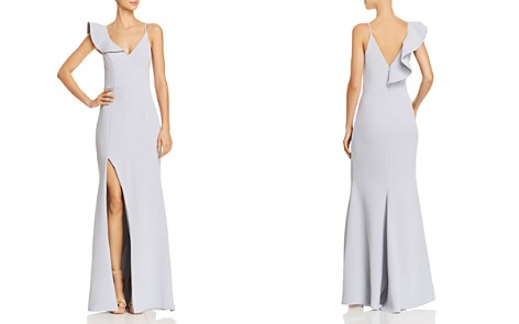 AQUA Asymmetric Crepe Gown - 100% Exclusive - Bloomingdale's_2
