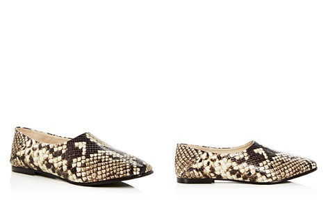 Freda Salvador Women's Babouche Snake Embossed Leather Flats - Bloomingdale's_2