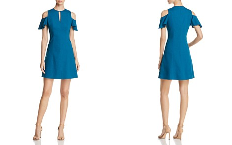 Elie Tahari Raylan Cold-Shoulder Keyhole Dress - Bloomingdale's_2