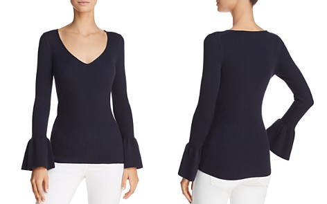 Minnie Rose Bell Sleeve Rib-Knit Sweater - Bloomingdale's_2