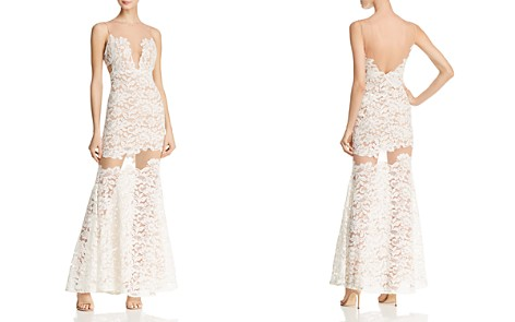 BCBGMAXAZRIA Illusion Lace Gown - Bloomingdale's_2