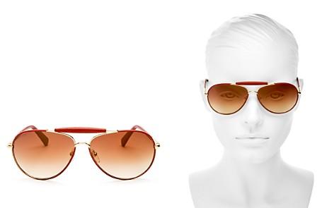 Longchamp Women's Heritage Family Mirrored Aviator Sunglasses, 61mm - Bloomingdale's_2
