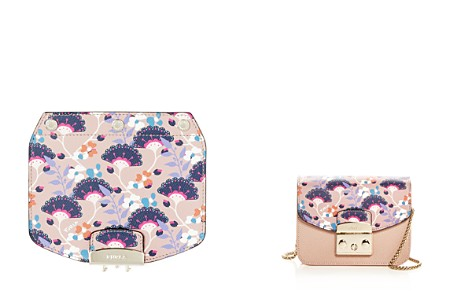 Furla MY PLAY Interchangeable Metropolis Mini Gingko Print Leather Flap - Bloomingdale's_2