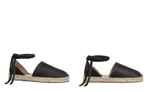 ALLSAINTS Women's Leather Ankle Tie Espadrille Flats - Bloomingdale's_2