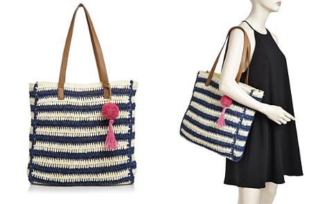 Echo Striped Straw Tote - Bloomingdale's_2