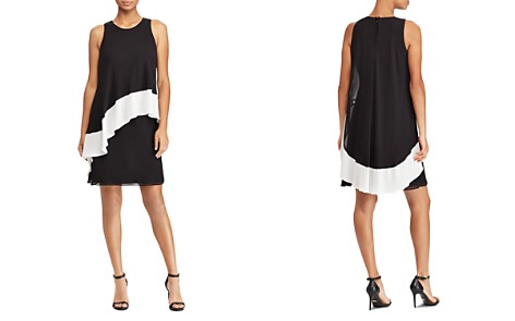 Lauren Ralph Lauren Color-Blocked Georgette Dress - Bloomingdale's_2