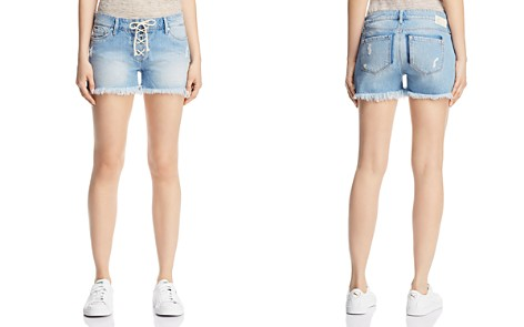Mavi Emily Lace-Up Denim Shorts in Light Summer Lace - Bloomingdale's_2