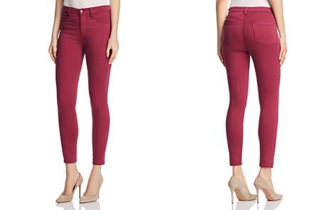J Brand Alana Sateen Skinny Jeans in Deep Plum - 100% Exclusive - Bloomingdale's_2