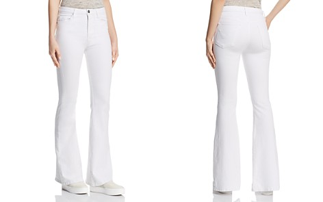 Hudson Holly High Rise Flare Jeans in White - Bloomingdale's_2