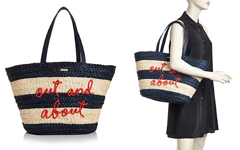 kate spade new york Out & About Straw Tote - Bloomingdale's_2