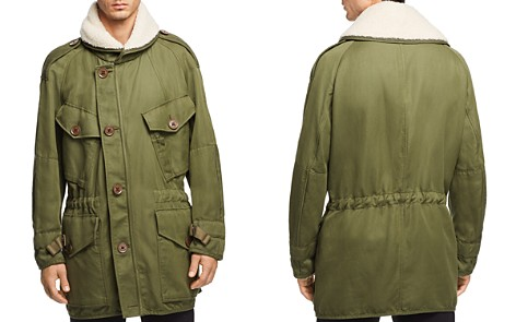Burberry Herman Field Jacket with Shearling Trim - Bloomingdale's_2