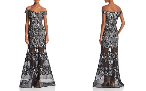Aidan Mattox Off-the-Shoulder Floral-Lace Gown - Bloomingdale's_2
