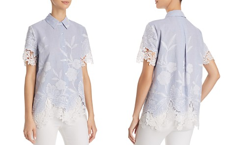 T Tahari Lola Embroidered Lace Blouse - Bloomingdale's_2