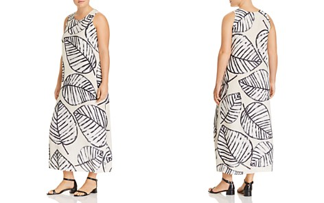 NIC and ZOE Plus Sleeveless Leaf-Print Dress - 100% Exclusive - Bloomingdale's_2