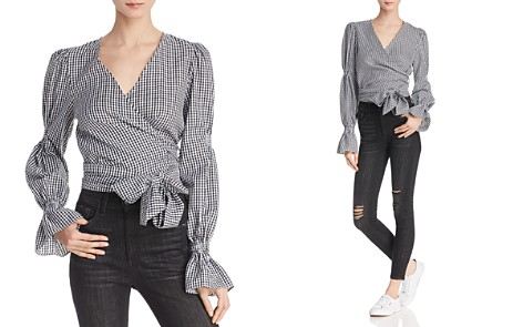 C/MEO Collective Best Love Gingham Wrap Top - Bloomingdale's_2