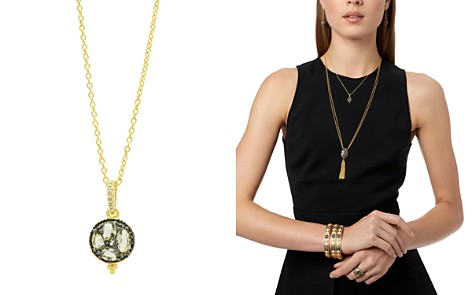 "Freida Rothman Rose d'Or Pavé Cluster Pendant Necklace, 16"" - Bloomingdale's_2"