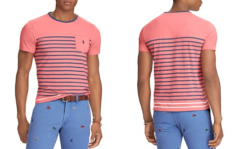 Polo Ralph Lauren Striped Jersey Classic Fit Crewneck Tee - Bloomingdale's_2