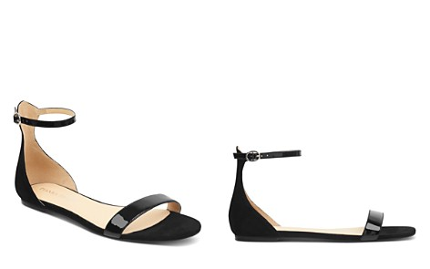 IVANKA TRUMP Women's Camryn Suede & Patent Leather Ankle Strap Sandals - Bloomingdale's_2