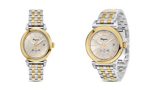 Salvatore Ferragamo Feroni Two-Tone Watch, 40mm - Bloomingdale's_2