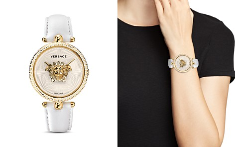 Versace Palazzo White & Yellow Gold-Pated Empire Watch, 39mm - Bloomingdale's_2