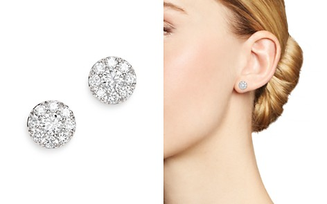 Bloomingdale's Diamond Cluster Halo Stud Earrings in 14K White Gold, 0.75 ct. t.w. - 100% Exclusive_2