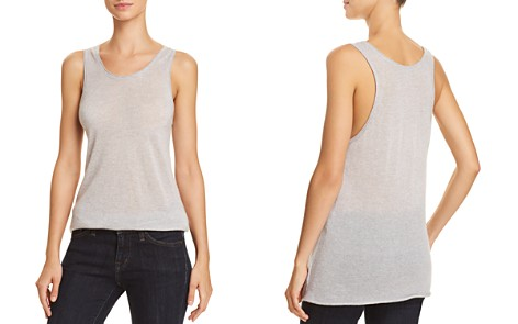 Theory Double-Trim Cashmere Tank - Bloomingdale's_2