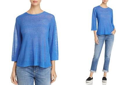 Eileen Fisher Semi-Sheer Knit Top - Bloomingdale's_2