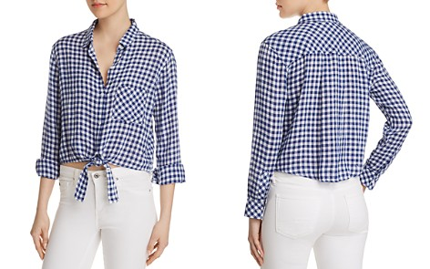 Rails Val Gingham Tie-Front Shirt - Bloomingdale's_2