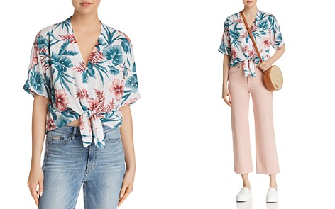 Rails Thea Floral Print Tie-Front Shirt - 100% Exclusive - Bloomingdale's_2